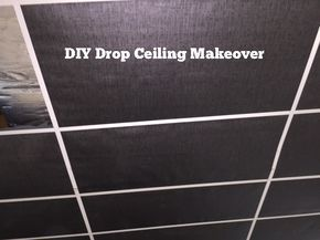 DIY Drop Ceiling Makeover