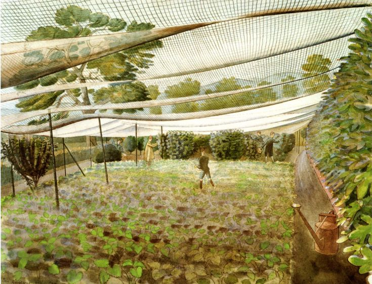 Strawberry Bed by Eric Ravilious