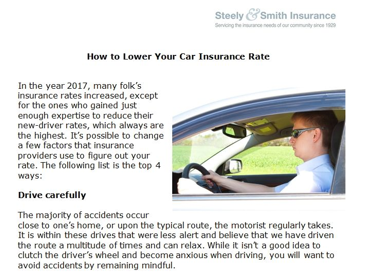 How To Lower Your Car Insurance Rate Car Insurance Rates Car