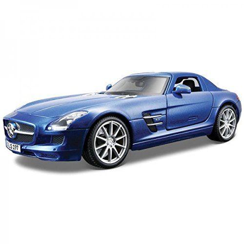 Maisto Premiere Edition - Mercedes-Benz SLS AMG Model Car 1:18 - Blue (36196)  Manufacturer: Maisto Enarxis Code: 018120 #toys #Maisto #miniature #cars #Mercedes #SLS #AMG