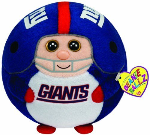 Ty Beanie Ballz New York Giants - Medium by Ty Beanie Ballz. Save 7 Off!. $11.18. From the Manufacturer                Beanie Ballz are a little wild and whacky, toss 'em and they always land on their feet. Ty's Sports Beanie Ballz are the best, collect them all.                                    Product Description                Ty Beanie Ballz are plush that have beans in their bottoms. You can throw and toss them around they always land on their feet. Officially licensed NFL mercha...