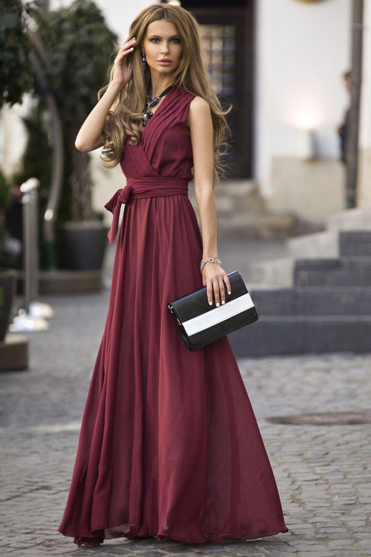 длинные бордовые платья фото нормальном состоянии сахара