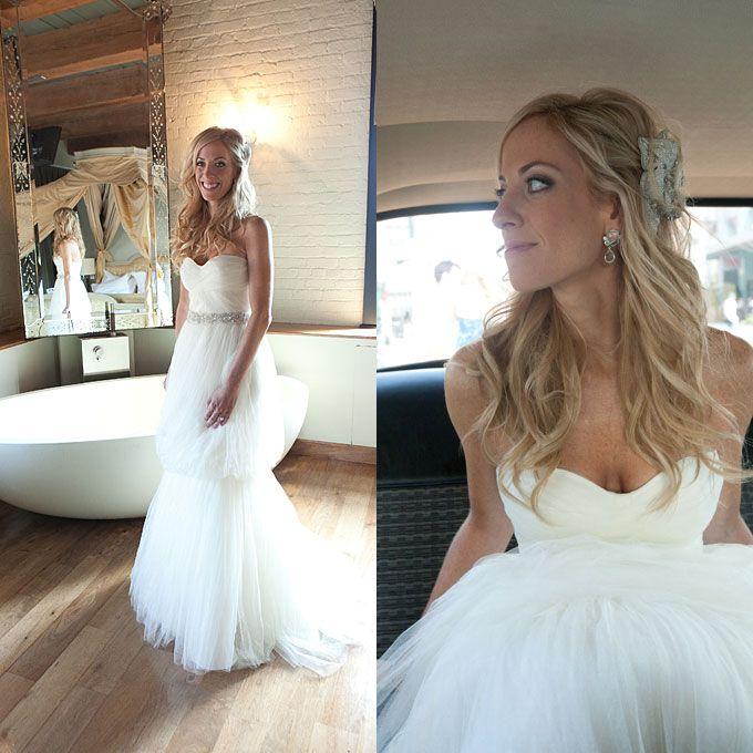 Half up half down wedding hair - soft & loose curls,  Go To www.likegossip.com to get more Gossip News!