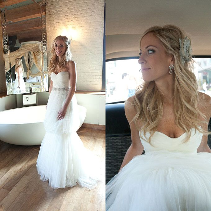 Steal Jessica Simpson S Pretty Half Up Wedding Hairstyle: 315 Best Images About Bridal Hair & Makeup On Pinterest