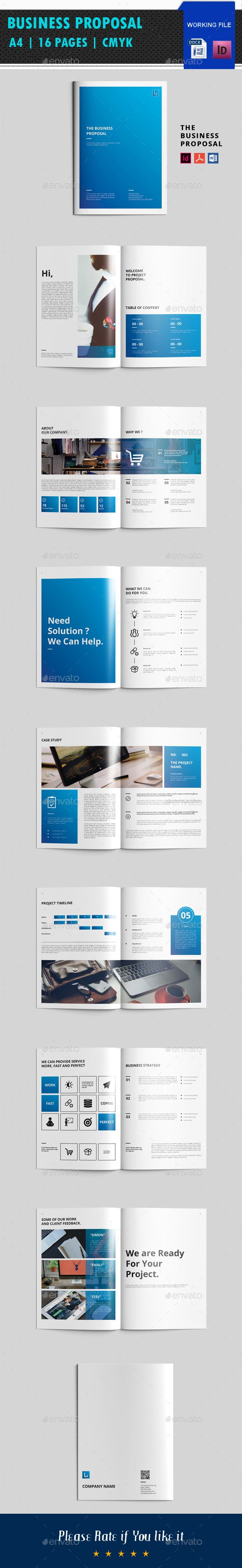 Business Proposal Brochure Template InDesign INDD, MS Word
