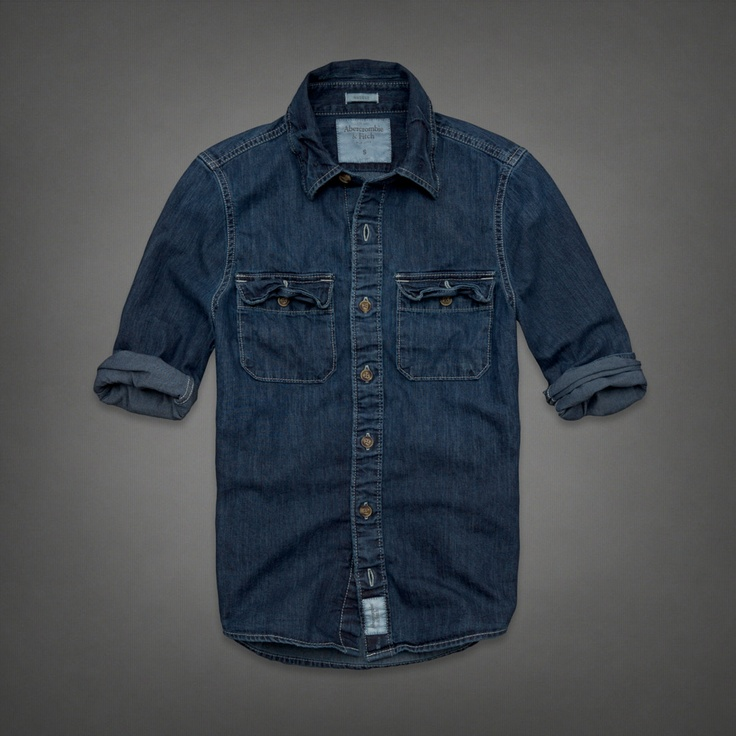 Mens Railroad Notch Denim Shirt- Blake really like a denim shirt he found the other day. He likes them tailored fit. Large.