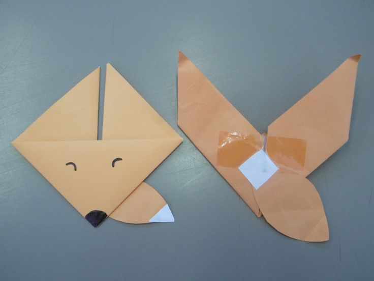 Origami Fox - 'Fantastic Mr Fox' Roald Dahl instructions from http://www.activityvillage.co.uk/origami-fox
