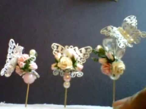 Wild Bunch - Butterfly Stick Pins - Shilpa - YouTube