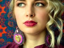 Voyage en Arabie - embroidered earrings