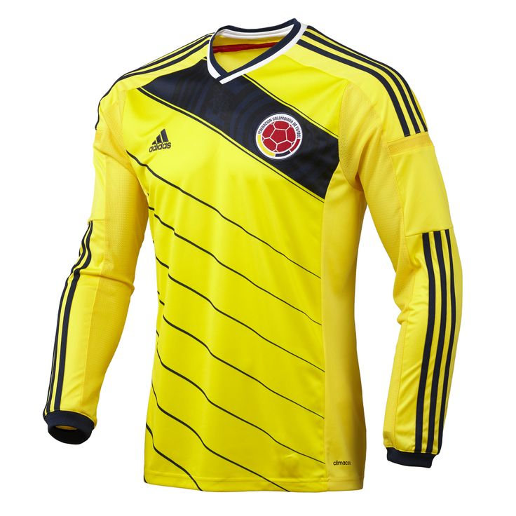 c2199f2ed ... Jersey World Cup 2014 football kit release adidas unveils new Colombia  kit 2014 FIFA World Cup Colombia Radamel Falcao 9 Long Sleeve Away Soccer  ...