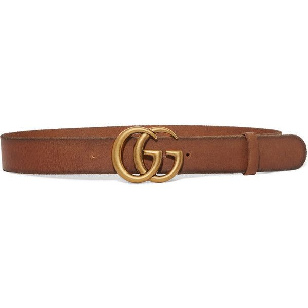 Gucci Leather belt ($420) ❤ liked on Polyvore featuring accessories, belts, brown, studded leather belt, wide brown belt, gucci, genuine leather belt and vintage belt