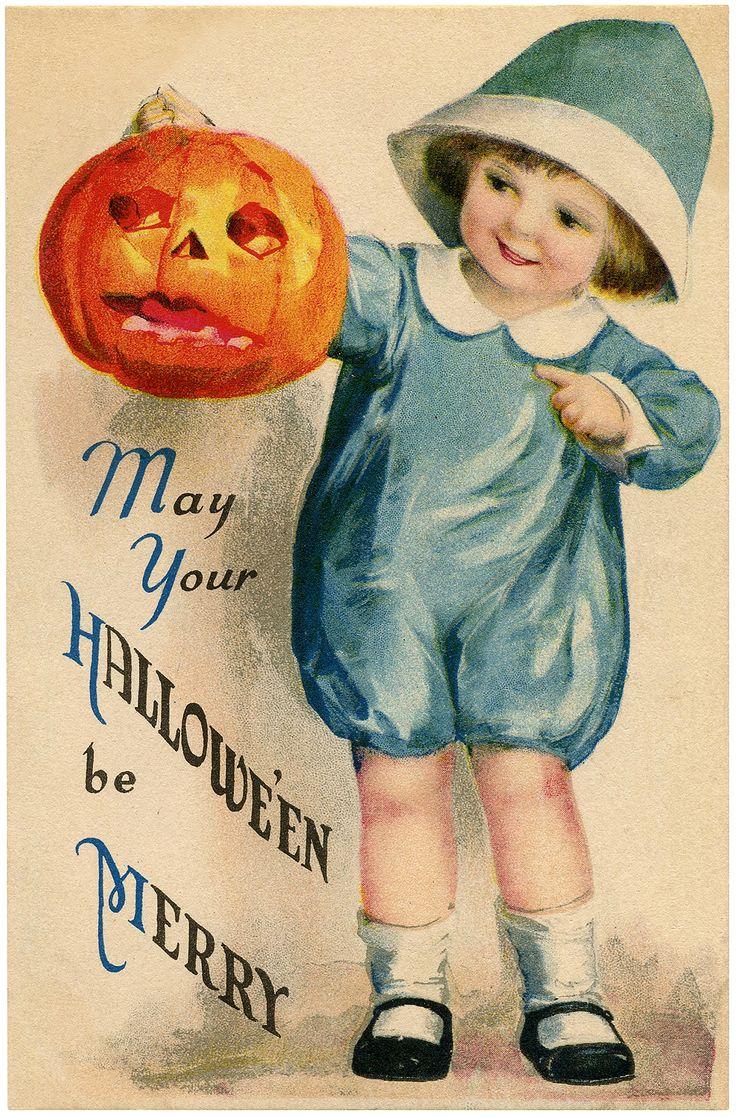 Старинные открытки к хэллоуину, улыбок