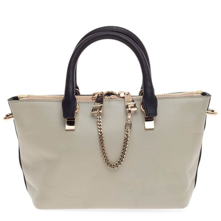 chloe best price - Pre-Owned Chloe Mini Baylee in bicolor leather, light and dark ...