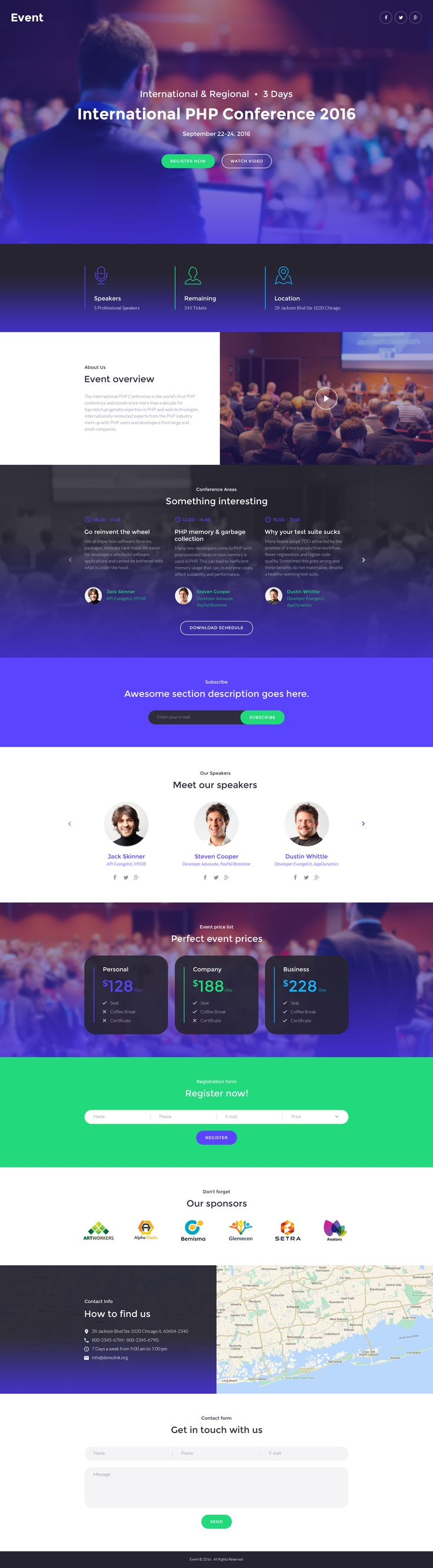 59 best web event conference images on pinterest conference event planner responsive landing page template pronofoot35fo Image collections