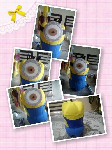 Minion con botella reciclada