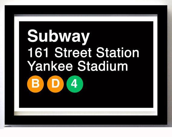 Yankee Stadium Subway Sign New York City By