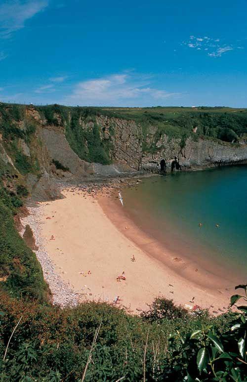 Caerfai Beach near St David's, and near us - www.crug-glas.co.uk.