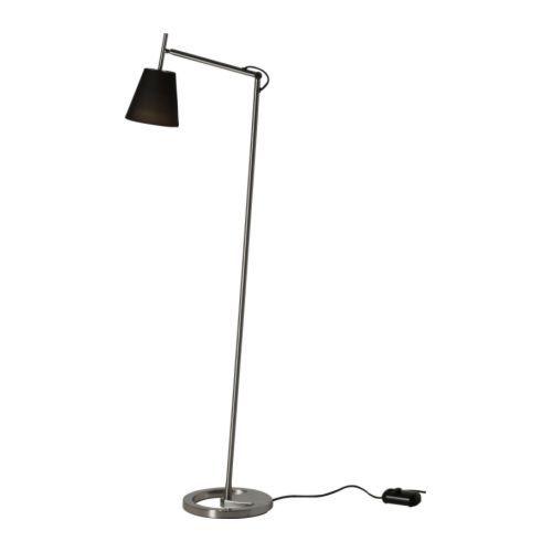 NYFORS Álló-/olvasólámpa IKEA Könnyen oda irányíthatod a fényt, ahová szeretnéd, mert a lámpa karja és feje is állítható.