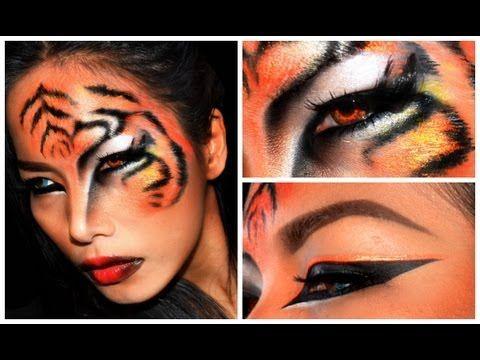 ''TIGER'' Halloween makeup look - YouTube