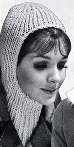 Knitted Helmet pattern from High Fashion Hats, originally published by Bernhard Ulmann, Volume 62, in 1961.