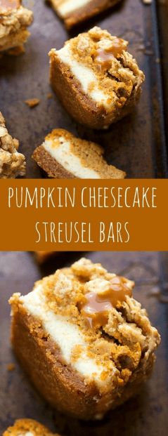 awesome Delicious Pumpkin Cheesecake Bars