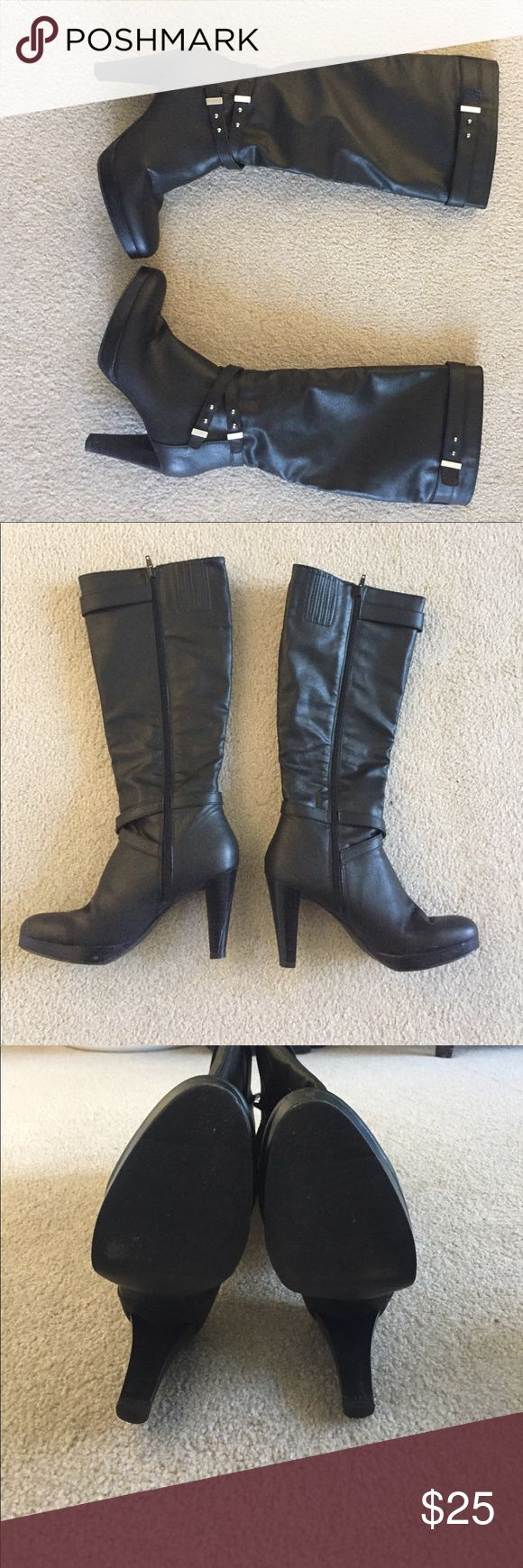 "Knee high boots - Sbicca, man made materials 7 1/2, very gently worn, 3 1/2"" heel, super comfy Sbicca Shoes Heeled Boots"