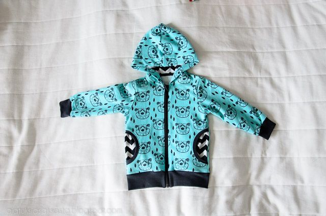 A hoodie for my son, pattern by Klimperklein and fabric designed by Andrea Lauren