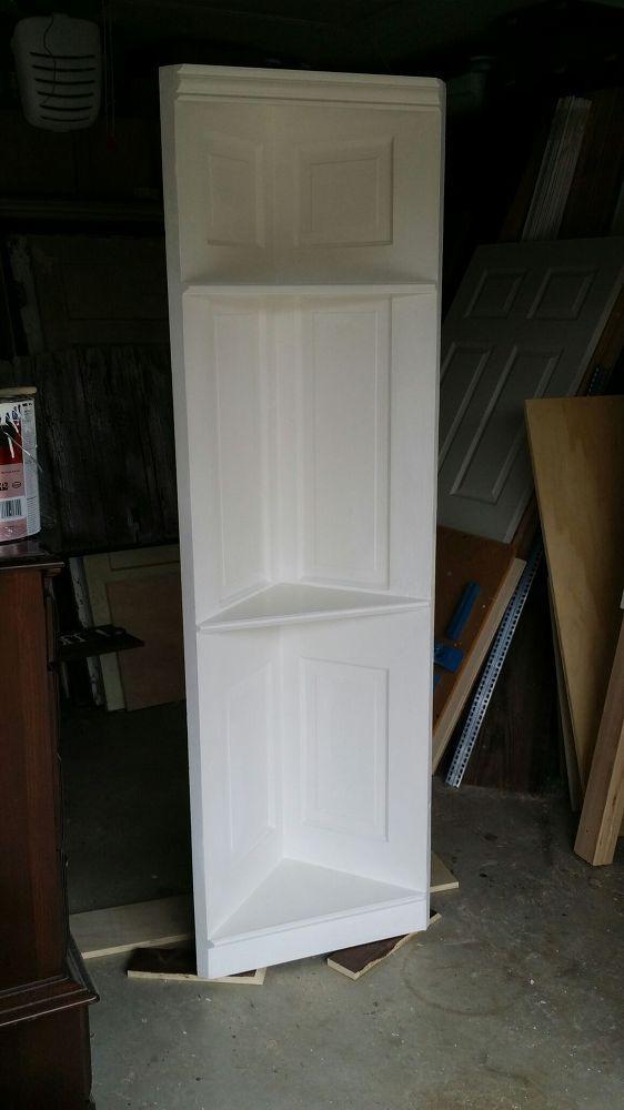 100 Yr Old Vintage 6 Panel Door Converted Into a Corner Shelf by Vintage Headboards 972-668-2603
