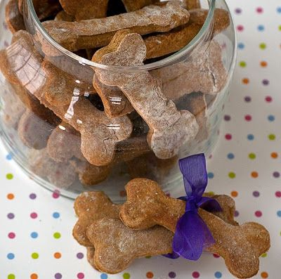 Have you thought about making your own dog treats?  This recipe has only 6 ingredients (you probably already have them in stock)  Check out this recipe