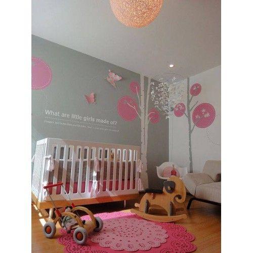 Vinilos para bebes de troncos con circulos recamara for Stickers habitacion nina