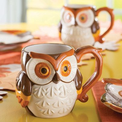 We think this owl mug is a HOOT. #fall