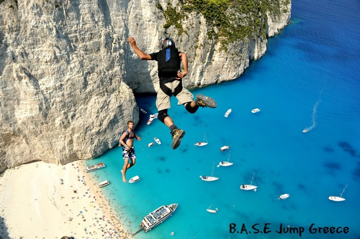 To those who dare!  B.A.S.E. jumping in Zakynthos.    Full photostory:  http://www.extremegreece.com/en/view/zakynthos-base-jumping: Awesome, Vacations Spots, Extraordanari Places, Travel, Dr. Who, Incredible Places, The World