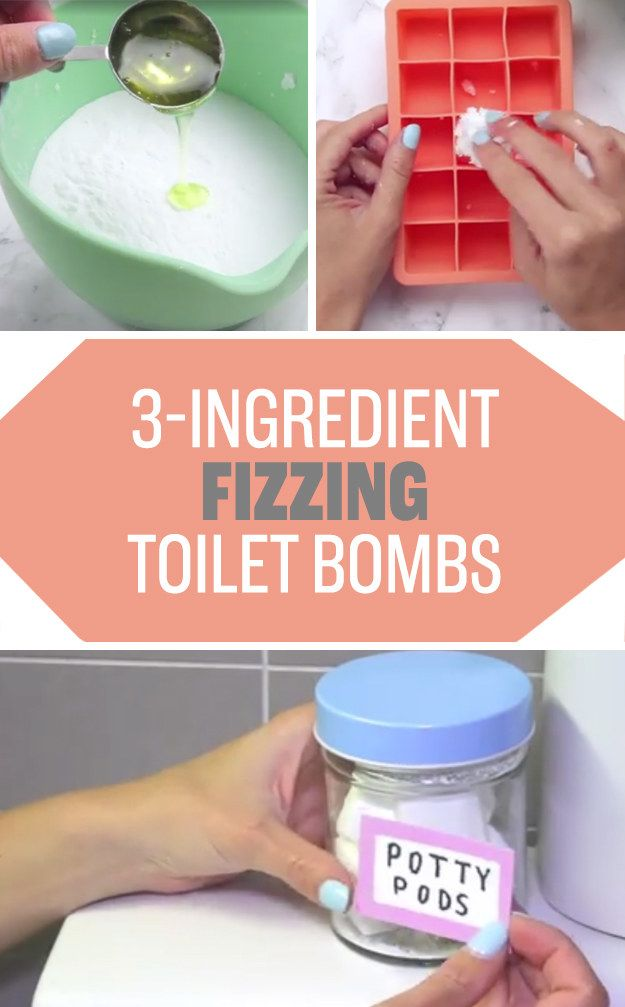 Improve your toilet scrubbing experience by dropping one of these homemade toilet bombs in the bowl every couple of days. | 21 Brilliant Cleaning Tricks That Will Make Your Life So Much Easier