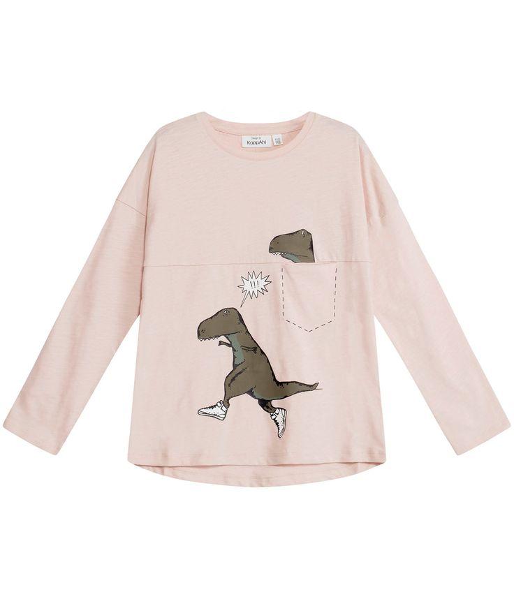 T-shirt i slub - barn - KappAhl