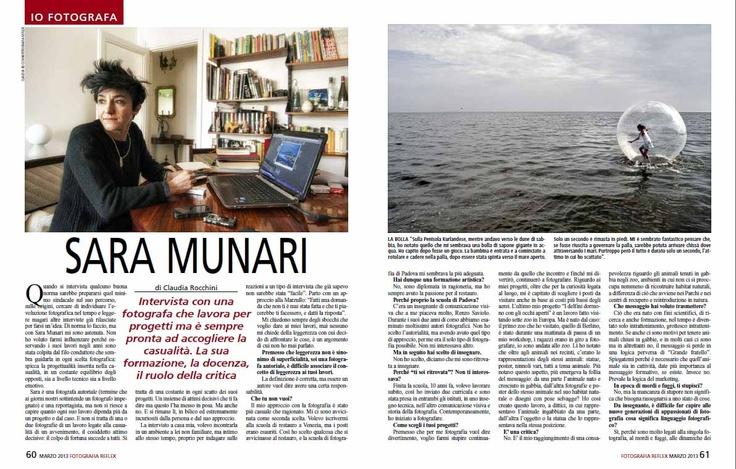 Intervista a Sara Munari - FOTOGRAFIA REFLEX, marzo 2013