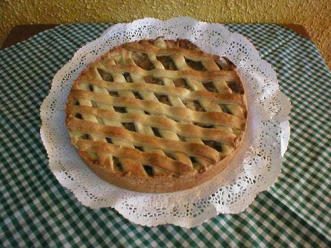Kuchen de manzana. Ver receta: http://www.mis-recetas.org/recetas/show/85141-kuchen-de-manzana