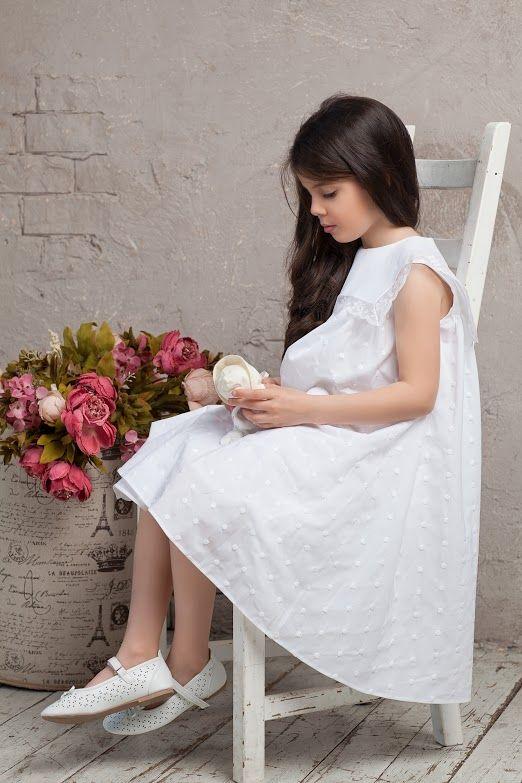 #cotton #white#bibiona #collar #bibiona #dress #collection #sky #blue  #baby #babygirl #cruise