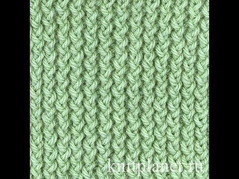 Планета Вязания | Резинка Хлебный колос спицами. Схема вязания узора. Видео урок по вязанию спицами резинки Хлебный колос