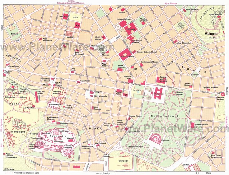 Map of Athens Tourist Attractions | PlanetWare