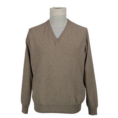 Maglia collo a v misto cachemere - Beige - Invernale. € 39,10. #hallofbrands #hob #maglia #sweater #jersey #knitwear #invernale #wintry #winter