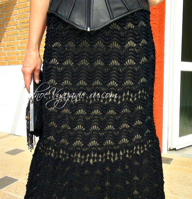 Шикарная юбка *Майорка* связанная крючком   - Crochet Modnoe Vyazanie