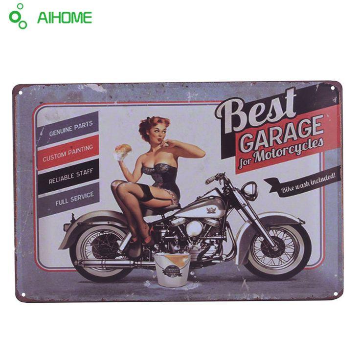 ヴィンテージスズ兆し古典オートバイレトロアイアン板塗装の装飾バーカフェパブレストラン金属壁ステッカー