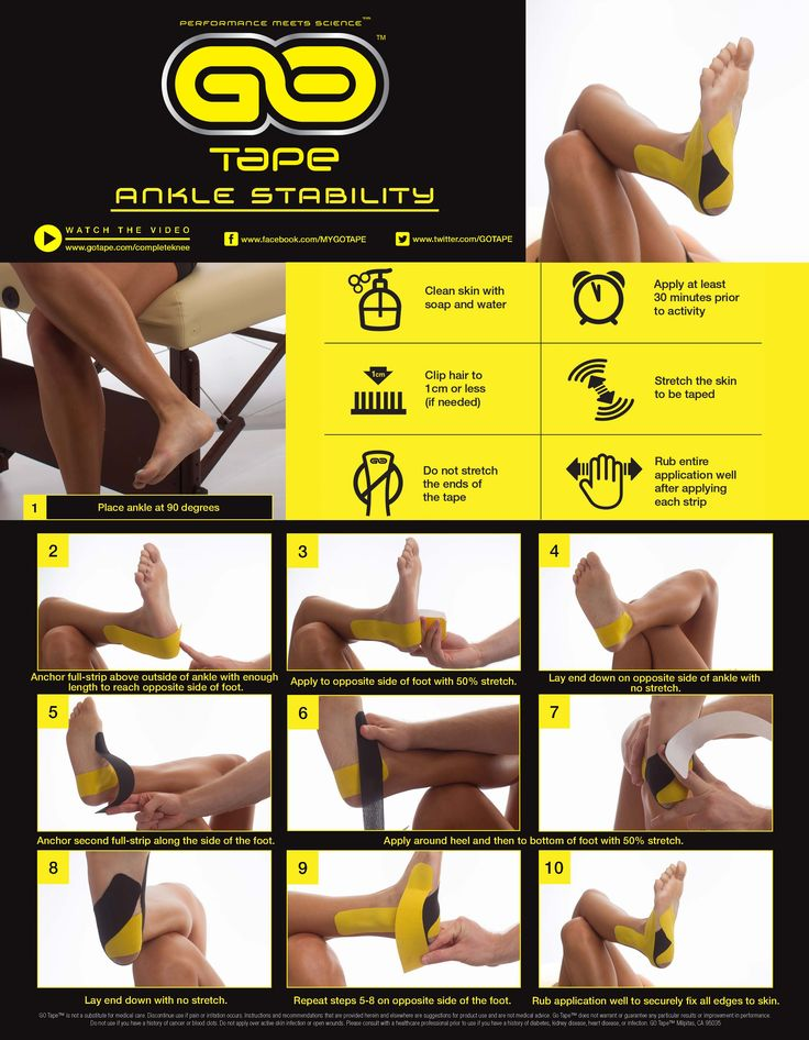 kt tape instructions knee