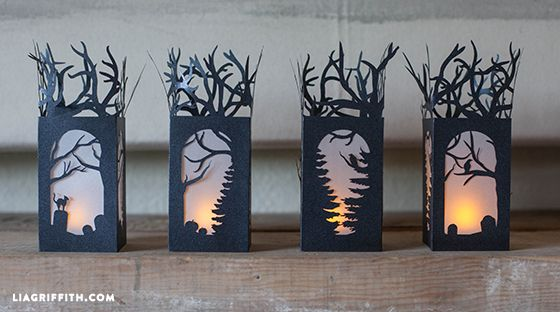 These spooky lanterns will be the perfect decorations to your mantel, table or…