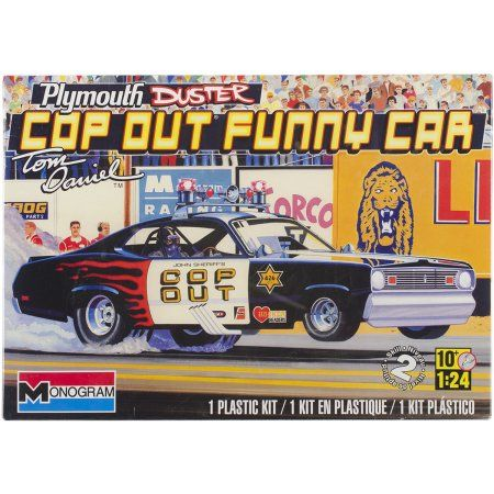 Plastic Model Kit, Plymouth Duster Cop Out Car, 1/24, White