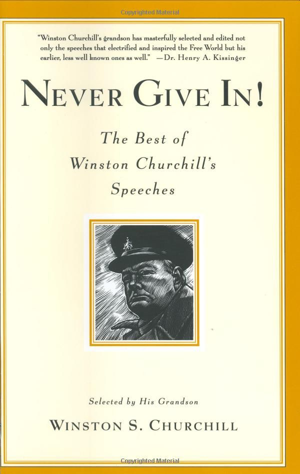 "Never Give In! - The Best of Winston Churchills Speeches:   ""Success consists of going from failure to failure without loss of enthusiasm."" – Winston Churchill #Winston_Churchill"