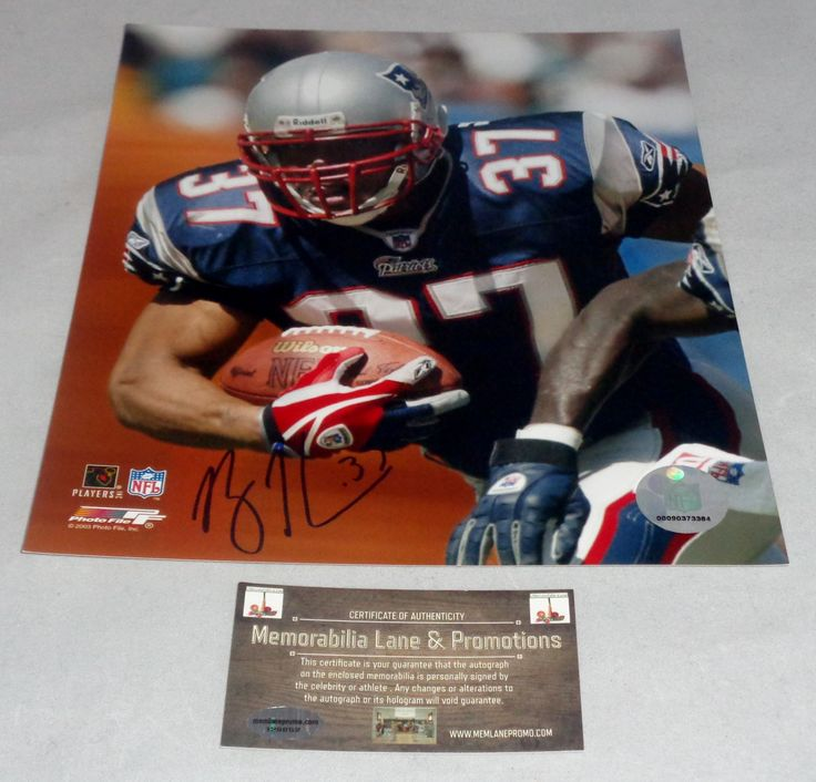 Rodney Harrison PATRIOTS autograph 8x10 COA Memorabilia Lane & Promotions