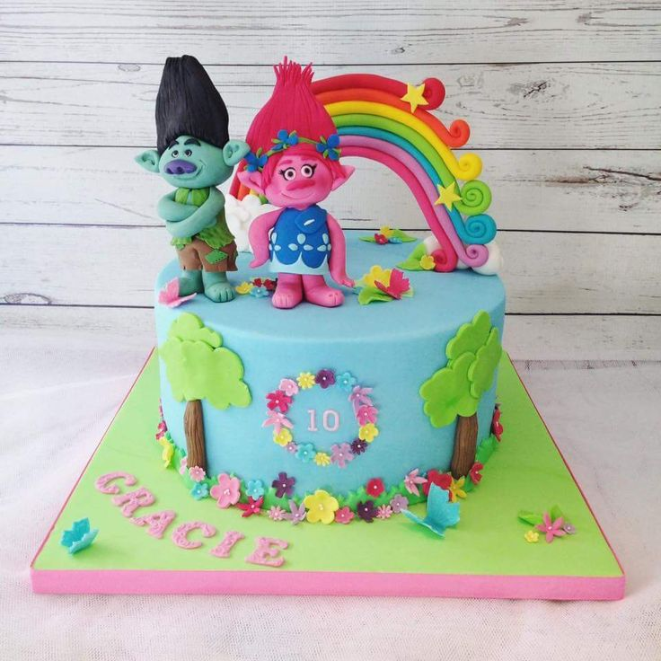 Cake Decoration Trolls : Best 25+ Trolls birthday party ideas cake ideas on ...