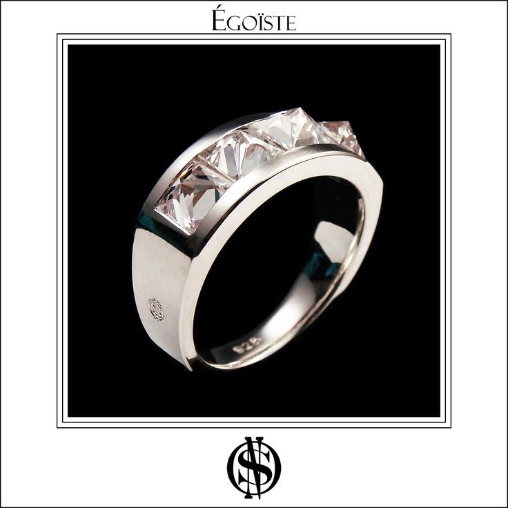 """Égoïste"" Ring in Silver & Swarovski Zircons"