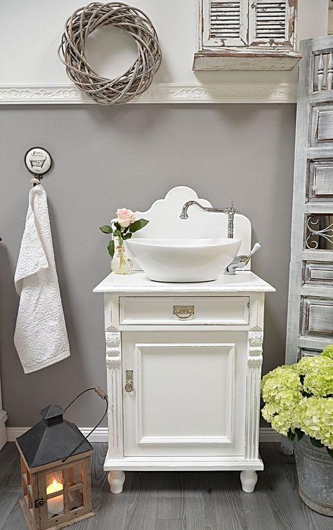 Murneau shabby chic landhaus waschtisch von badmöbel landhaus land und